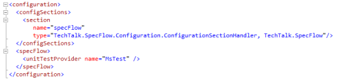 Specflow Config