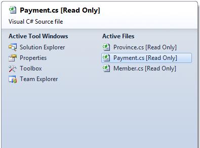 Moving Between Documents in Visual Studio