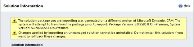 Solution Import