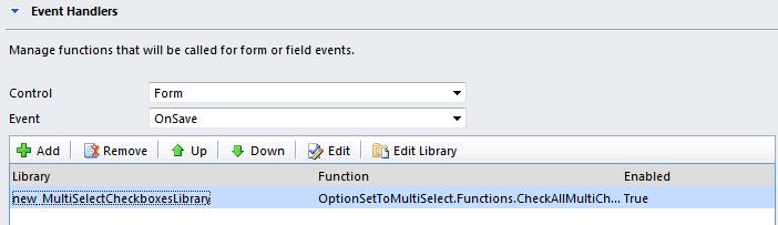 Invoke multi select checkboxes save function