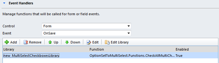 Invoke multi select checkboxes save function
