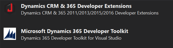 Dynamics 365 – Developer Toolkit & Extensions for VS2017