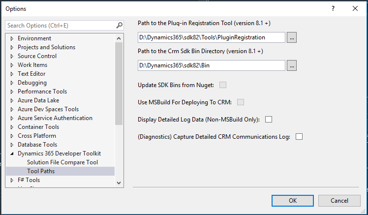 Dynamics 365 – Developer Toolkit & Extensions for VS2017